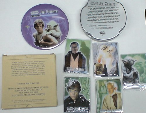 (1771 Avon Exclusive Metal Trading Card Star Wars W/tin and Box)