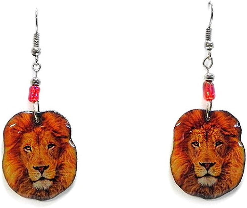 African Lion Earrings