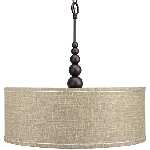 3 Light Pendant Drum Shade - 8