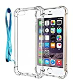 clear back bumper iphone 5s - BACAMA [Air Cushion Corners] Crystal Clear Shockproof Case for iPhone SE , iPhone 5s Scratch Resistant Protective Cover with Hard PC Back and TPU Edges Coverage Bumper [Support Wireless Charging]