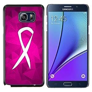 Caucho caso de Shell duro de la cubierta de accesorios de protección BY RAYDREAMMM - Samsung Galaxy Note 5 5th N9200 - Lucha Soporte púrpura rosada Caridad