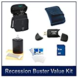 Special Digital Camera 6 pc Accessory Kit 8GB SD Card & Reader Deluxe Carry Case Lens Cleaning Kit Deluxe Gadget Bag for Olympus Sony Canon Fuji Nikon Digital Cameras Memory Card Wallet