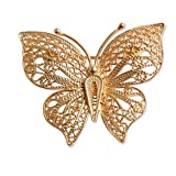 NOVICA 21k Yellow Gold Plated .925 Sterling Silver Brooch 'Catacos Butterfly'