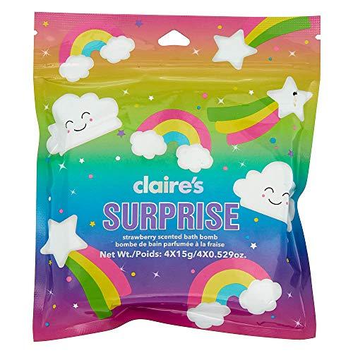 Claire's Girl's Rainbow Bath Bomb Blind Bag - 4 Pack