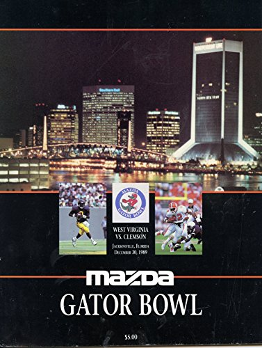 Tigers Wests (1989 Gator Bowl Clemson Tigers vs West Virgina Mountaineers Football Program)