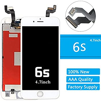 """iPhone 6s Lcd Screen Replacement (4.7 Inch) Display Touch Digitizer Assembly Repair Kit by Mr Repair Parts (6s 4.7"""" White)"""