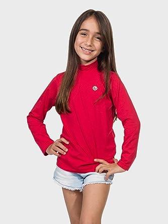 Camisa UV Gola Alta Infantil Feminina