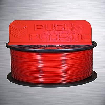 Push Plastic 3mm Red PLA Filament 1kg (2.2 lbs) spool