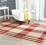 Safavieh Courtyard Collection CY6201-238 Red and Bone Indoor/Outdoor Area Rug (4′ x 5'7″) Review