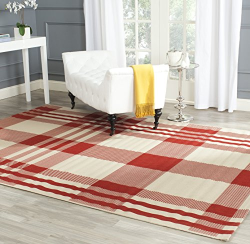 Safavieh Courtyard Collection CY6201-238 Red and Bone Indoor/ Outdoor Area Rug (6