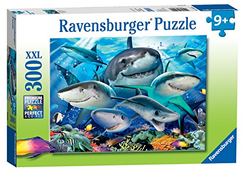 Ravensburger Smiling Sharks 300 Piece Jigsaw Puzzle for Kids - Every Piece is Unique, Pieces Fit Together Perfectly