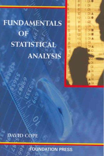 Fundamentals Of Statistical Analysis (Coursebook)