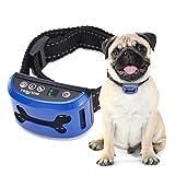 WOLFWILL 4 Mode No Bark Collar - 7 Level Sensitivity Vibration Shock Beep Rechargeable Digital Display Waterproof Anti-Bark Dog Training Collar