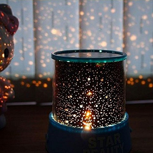 ThinIce USB Projector LED Night Light Rotation Star Colorful Light Lamp for Baby Sleep, Bedroom & Kids Room (Blue) by ThinIce