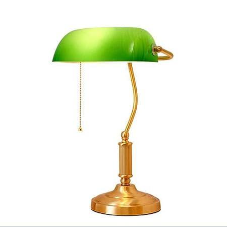 MICOKY Mesa Escritorio de lámpara Retro Ejecutivo banquero luz con ...