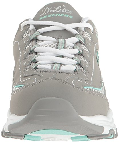 Fresh gray Life white Skechers Donna Corsa Scarpe Da Saver Start D'lites Grigio 8xxz5