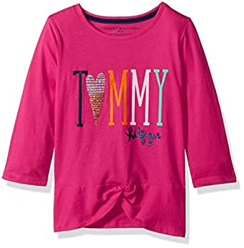 Tommy Hilfiger Big Girls' Tommy Knot Tee, Lollipop, Small