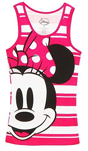 Juniors Minnie Mouse Half Face PJ Canotta Bianca / Rosa Small