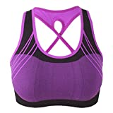 Women Sports Bras Professional Fashion High Impact Workout Gym Activewear No-Bounce Full-Support Sport Bra