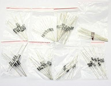 SATKIT Pack 100 Diodos - 8 modelos diferentes, 1N4148, 1N4007, 1N5819, 1N5399, FR107, FR207, 1N5408, 1N5822: Amazon.es: Industria, empresas y ciencia