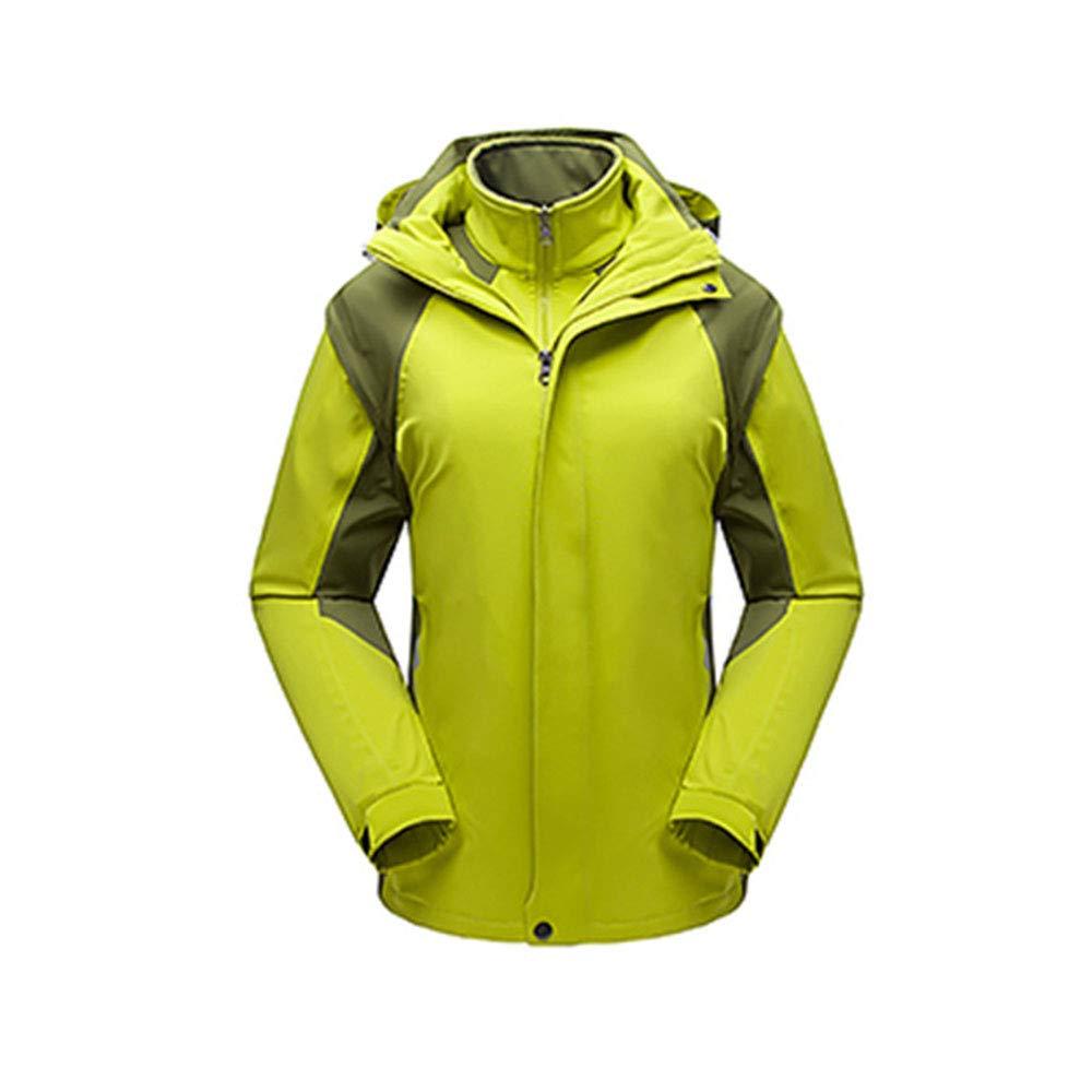Alte Grün Damen-Zweiteilige Outdoor-Jacke, Winter Warm-Fang-Vlies, Lauf Wanderwander Camping-Sportbekleidung, Winddicht Und Atmungsaktiv