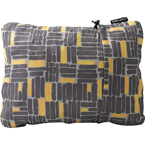 Therm-a-Rest Compressible Travel Pillow for Camping, Backpacking, Airplanes and Road Trips, Mosaic, X-Large - 16.5 x 27 Inches