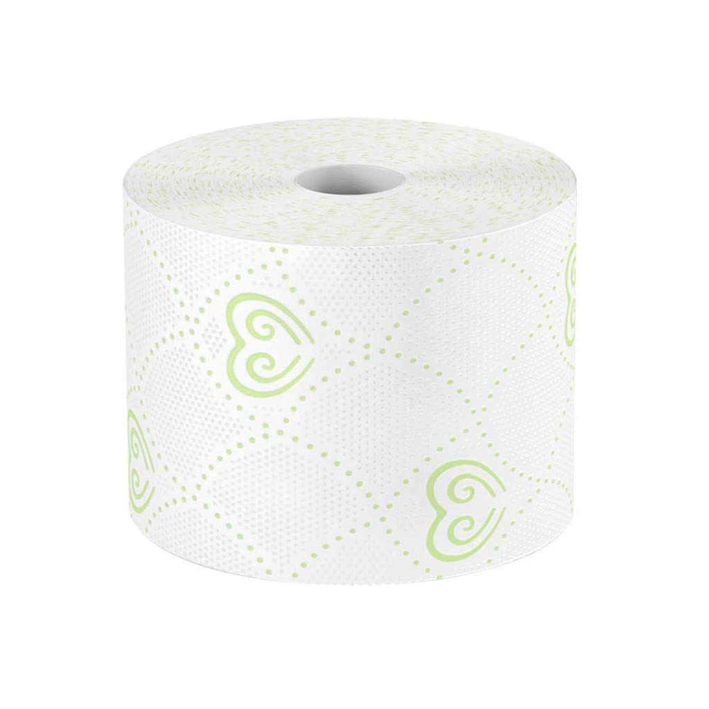 Bathroom Ultra Soft White Toilet Paper Print Interesting Toilet Paper Table Kitchen Paper for Kitchen Bedroom,Family Use Toilet Tissue Toilet Hollow Replacement Roll Paper Big Size 8 Rolls