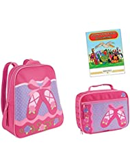 Stephen Joseph Go Go Backpack, Lunch Box, & Coloring Book
