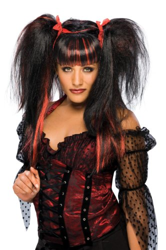 [Rubie's Costume Lilith Fairy Wig, Black/Red, One Size] (Punk Fairy Costumes)