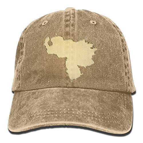 Venezuela Map Gold No More Dictator Unisex Washed Twill Cotton Baseball Cap Vintage Adjustable Hat ()