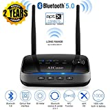 AICase Bluetooth 5.0 Transmitter Receiver,Dual Antennas 265ft 3 in 1 Bluetooth Audio Adapter