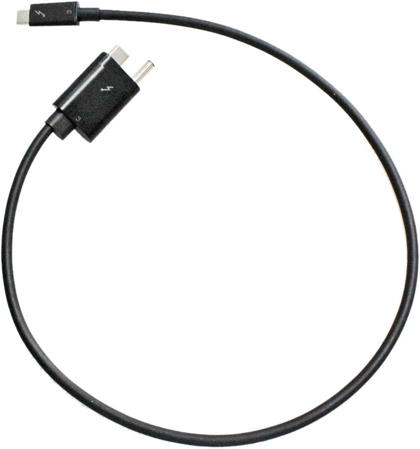 Zahara Replacement for HP Thunderbolt 3 Cable 59cm AC+USB Type-C to USB Type-C Single Custom End