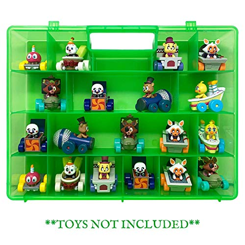 (Life Made Better Green Carrying and Storage Case, Compatible with Funko Racers, Includes Multiple Individual Storage Compartments, Molded Handle, and Secure Fastening System)