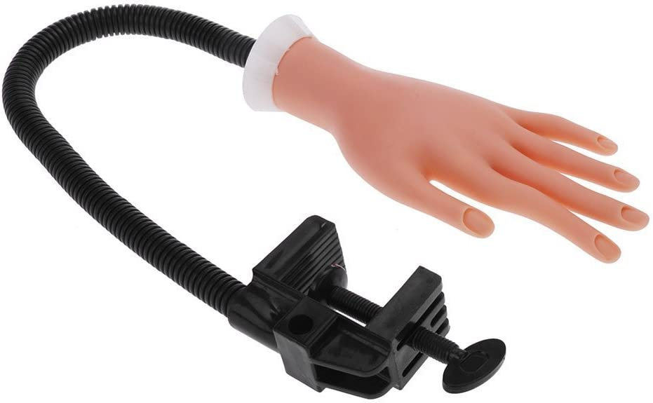 Xrten Mano de Caucho Flexible de Práctica para Estudiando Manicura Uñas y Arte del Clavo Manicura