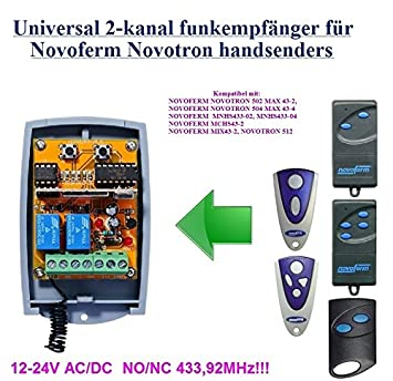 433.92Mhz !!! TORMATIC MNHS433-02 MNHS433-04 kompatibel handsender ersatz sender