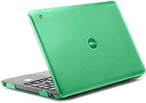 "iPearl mCover Hard Shell Case for 2017 11.6"" Dell Chromebook 11 3180 Series Laptop (NOT Compatible with 210-ACDU / 3120/3189 Series) (Green)"