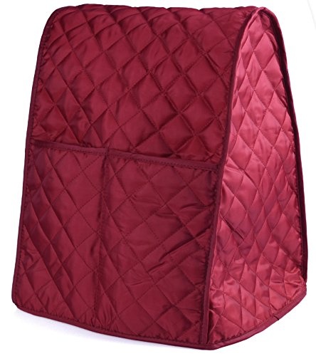 Stand Mixer Cover Dust-proof with Organizer Bag for Kitchen Mixer (Red) - Quilted Blender Appliance Cover