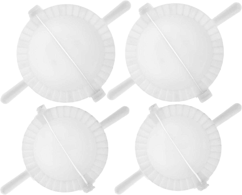 Easy Large Dumpling Cutter and Press - Pack of 4 - Big Plastic Maker Mini Ravioli and Dumplings Mold