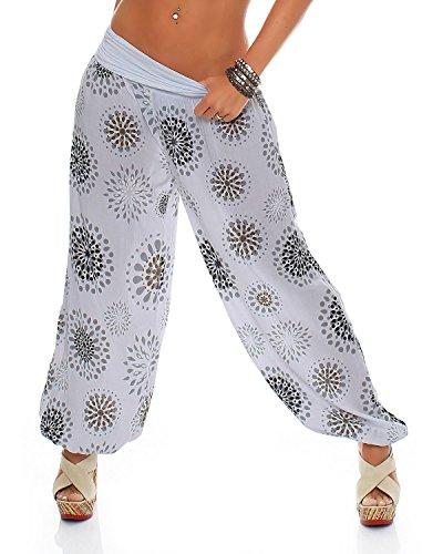 Style gris Pantalon Zarmexx Été Dames Bloomers All Imprimé Cercles Occasionnels Pantalons Clair Sarouel Over UwIwq