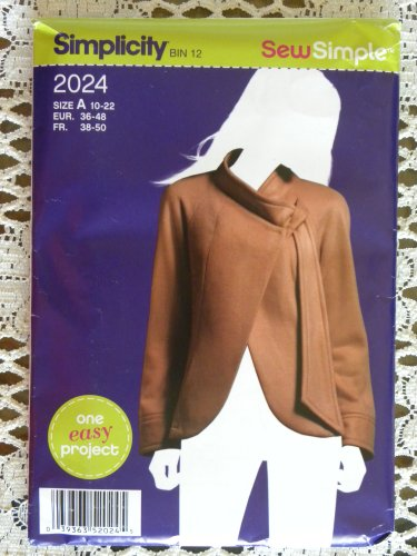 (Simplicity 2024 Misses Designer Jacket Sewing Pattern Size 10 to 22 Sew Simple, One Easy Project)
