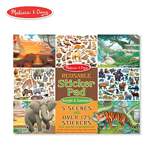 Melissa & Doug Reusable Sticker Activity Pad - Jungle & Savanna ()