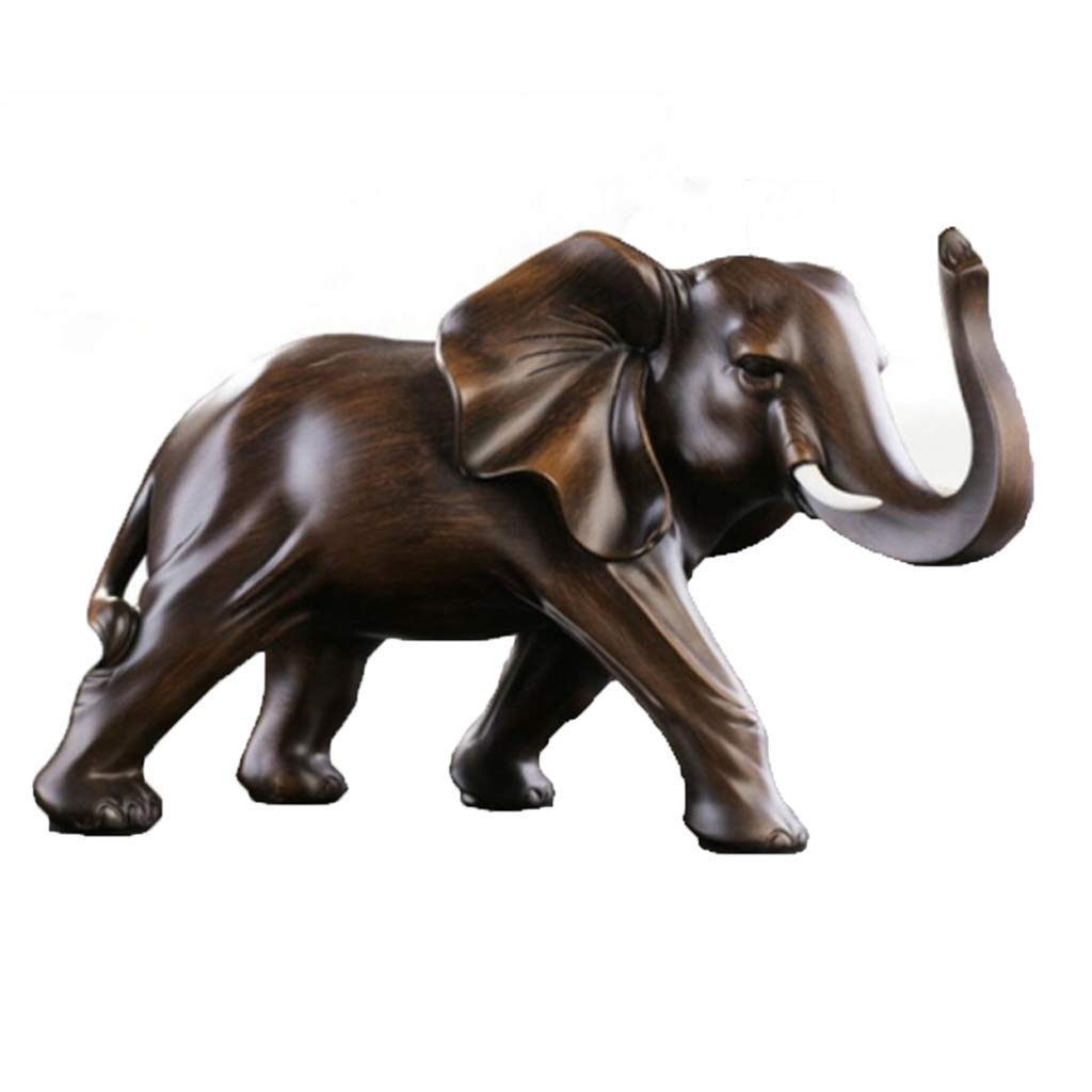 Decoration Elephant Ornaments A Pair of Crafts Gifts Office Table Living Room Wine Cabinet Home Decoration Decoration (Color : Right Foot, Size : 46x24x29cm)