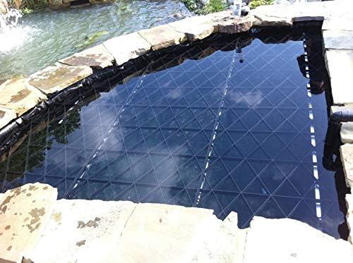 ECODECK - Kit de Seguridad para estanques de jardín, Cubiertas de Seguridad de plástico para estanques Infantiles – Incluye Soporte de Seguridad de Aluminio: Amazon.es: Jardín