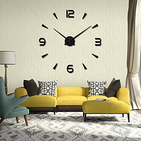 dffv-salon decorativo tuercas relojes Digital reloj moda clásico reloj de pared (sin alimentación), 20 poucescadeau de regalo de Navidad de vacaciones de ...