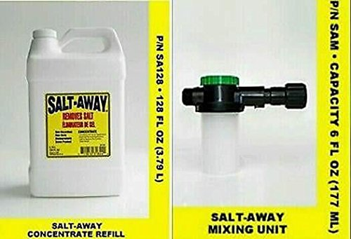 Salt Away Gallon CONCENTRATE WITH 6oz MIXING UNIT plus one Universal motor flus by Salt Away (Image #5)
