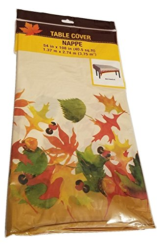 Thanksgiving Tablecloth Table Cover Kitche Harvest Decor Autumn Fall Decoration Decorations (Homemade Kids Mermaid Costume)