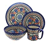 Blue Rose Polish Pottery Ashley 4 Piece Dinner Set Review