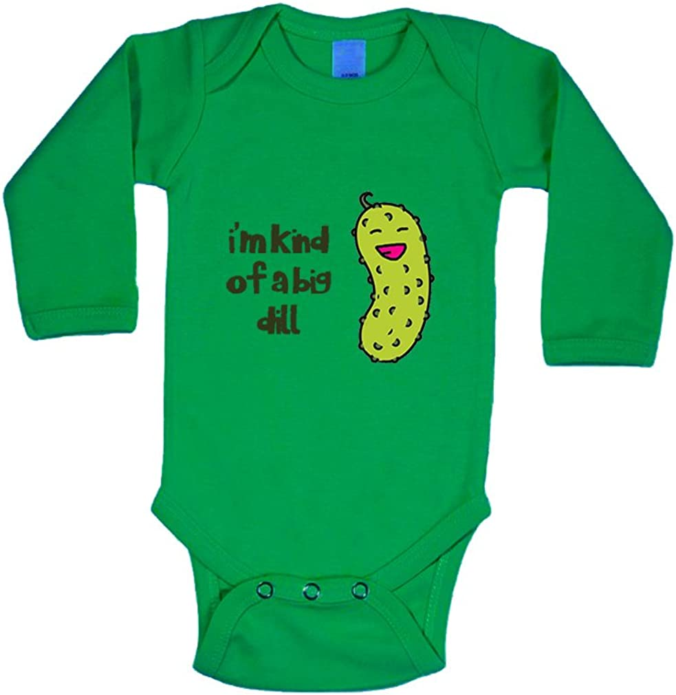 Laughing Pickle Dill IM Kind Of A Big Dill Long Sleeve Baby Bodysuit One Piece