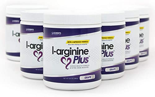 L – Arginine Plus 6 – pack Cardio Health Formula And Nitric Oxide Booster ,Grape 13.4 Oz.