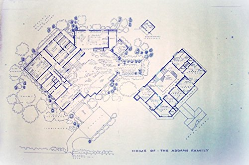 Amazon the addams family tv show house home 0001 cemetery lane the addams family tv show house home 0001 cemetery lane full size blueprints 24quot malvernweather Gallery